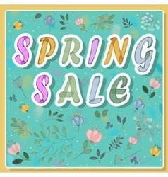 Spring sale on the floral background vector
