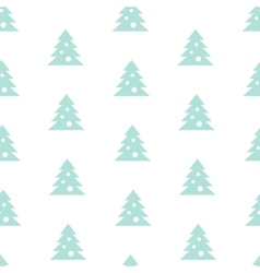 Stock Seamless Blue Christmas Tree Pattern vector image vector image