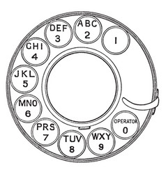 Telephone rotary dial vintage vector