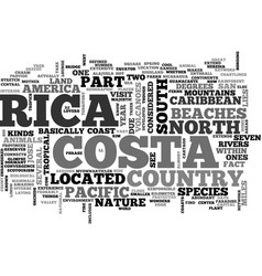 Where is costa rica located text word cloud vector