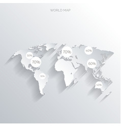 World map concept vector image