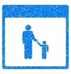 Father calendar page grainy texture icon vector