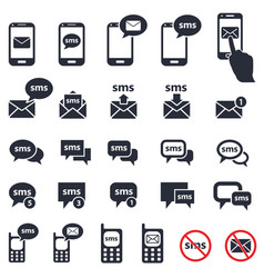Sms icons set vector