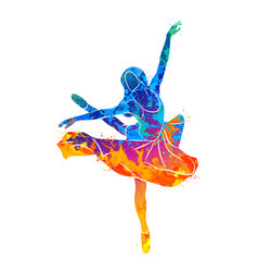 dancing girl colorful vector image