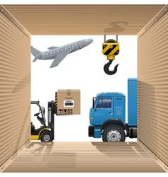 Shipping concept vector