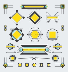 Line and Geometric Labels and Badges vector image