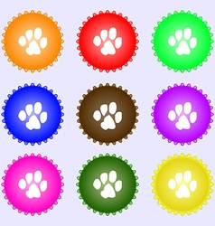 Trace dogs icon sign a set of nine different vector
