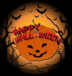 Happy halloween and pumpkin vector