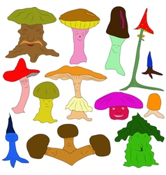 Colorful mushrooms vector