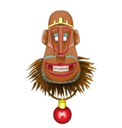 Christmas fun monkey mask a symbol of the coming vector