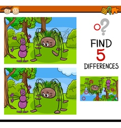 Kindergarten task of differences vector