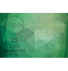 Set of cold arms icons vector