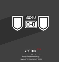Scoreboard symbol flat modern web design with long vector