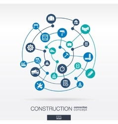 Construction network abstract background with vector