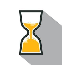 Sand Clock Retro Icon vector image