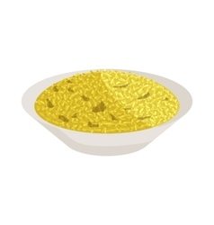 Yellow rice icon cartoon style vector