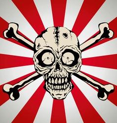 Skull smile vector