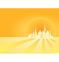 Abstract shining city vector