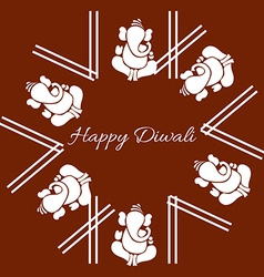 attractive background of diwali vector image vector image