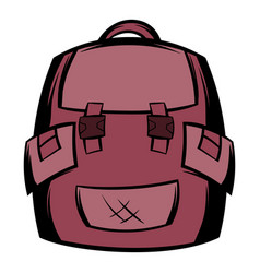 Backpack school icon cartoon vector