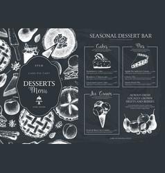 Baking menu design template vector