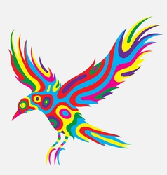 Bird abstract colorfully vector