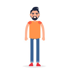 cartoon full-length man isolated vector image vector image