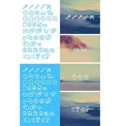 Cleanse Icons Set on blurred background vector image vector image