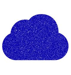 Cloud icon grunge watermark vector