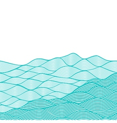 colorful abstract hand-drawn pattern waves vector image