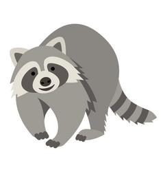 Cute smiling raccoon cartoon vector