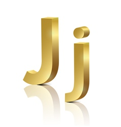 Golden letter j vector