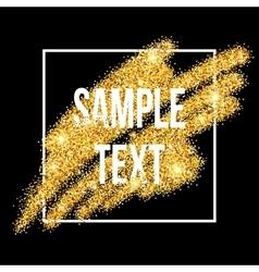 Golden sparkles brushstroke background vector