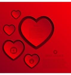Modern heart background vector