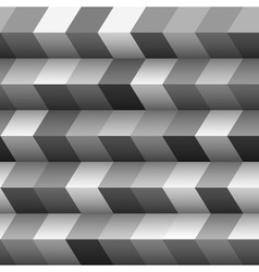Monochrome geometric structured background vector image vector image