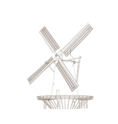 Old Classic Windmill vector image vector image