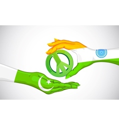 Peace between India and Pakistan vector image