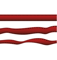 Polic red tape vector