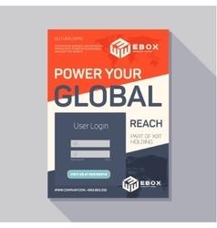 Promotional flyer leaflet tech design modern trend vector