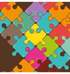 Puzzle pieces teamwork vector image
