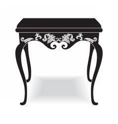 Rich Baroque coffee Table vector image