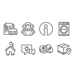 Savings group and vacancy icons washing machine vector