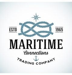 Vintage Maritime Trading Company Logo vector image vector image