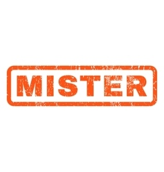 Mister rubber stamp vector