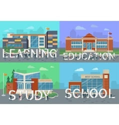 Learning education study school people letters vector