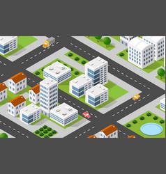 Isometric 3d city urban vector
