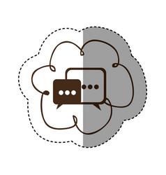 color cloud chat bubbles icons sercive vector image