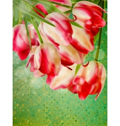 Card with abstract flowers eps 10 vector