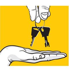 handover of the keys vector image