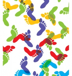 Feet background vector